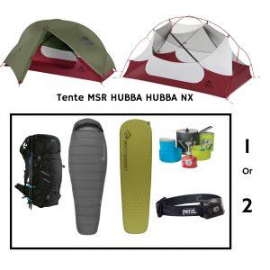 Location PACK BIVOUAC MSR HUBBA HUBBA NX pour 1 ou 2 personnes