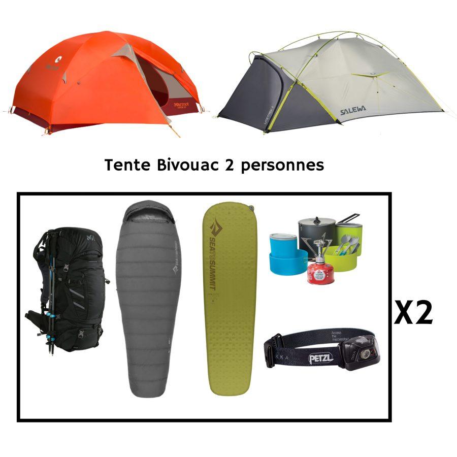 Location pack bivouac pour 2 personnes