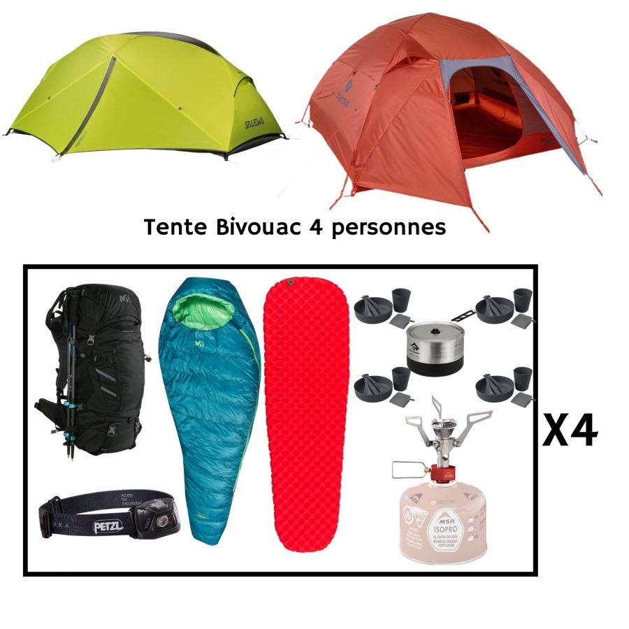Location pack bivouac pour 4 personnes