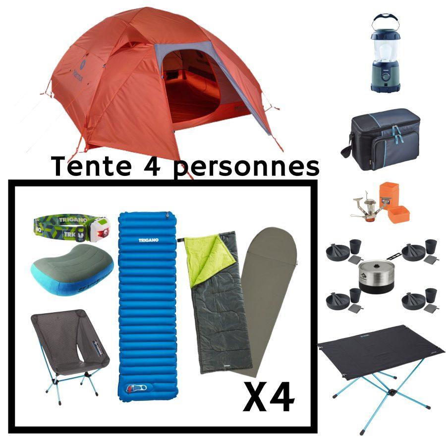 Location pack camping Premium 4 personnes