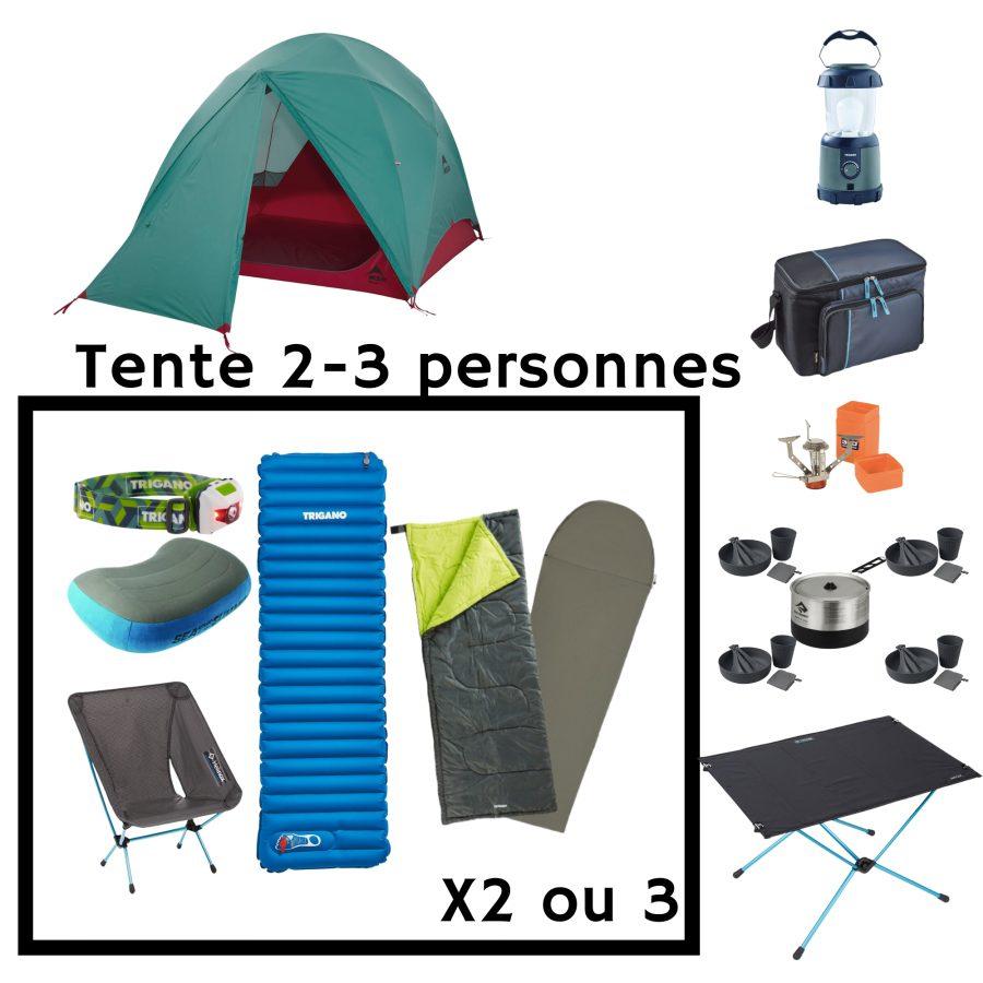 Location pack camping Premium 2 personnes