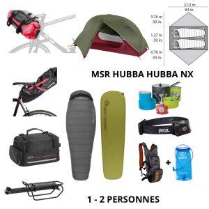 Location pack bikepacking MSR HUBBA HUBBA NX DUO