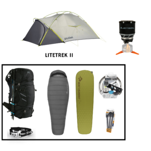 Location pack rando - trekking 1 personne salewa