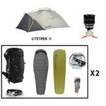 Location pack rando - trekking 2 personnes salewa