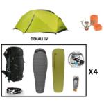 Location pack rando – trekking 4 personnes salewa