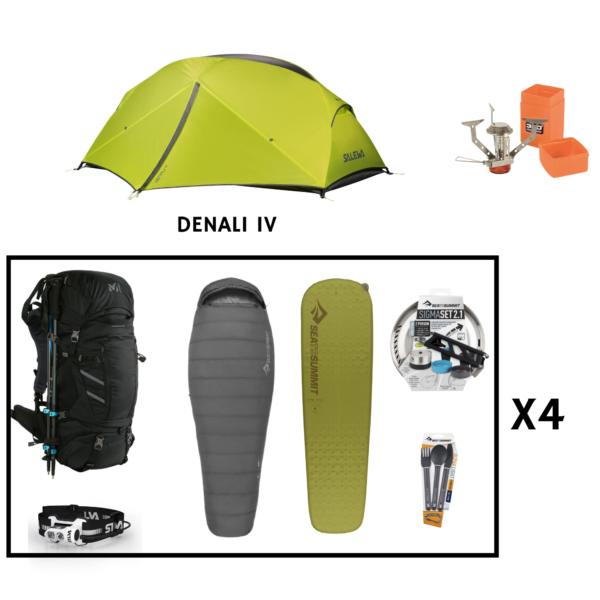 Location pack rando - trekking 4 personnes salewa