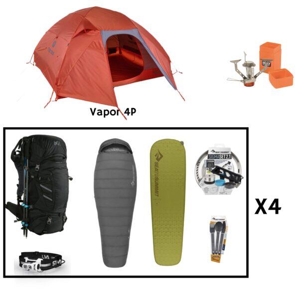 Location pack rando trekking 4 personnes