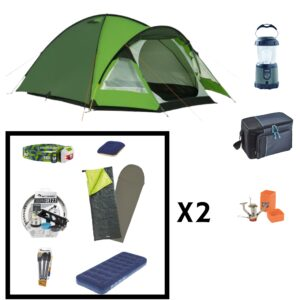 Full camping pack rental for 2 people